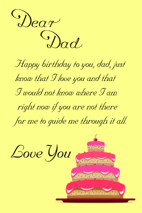 Happy Birthday To A Special Daddy From Your Little Boy Birthday Card