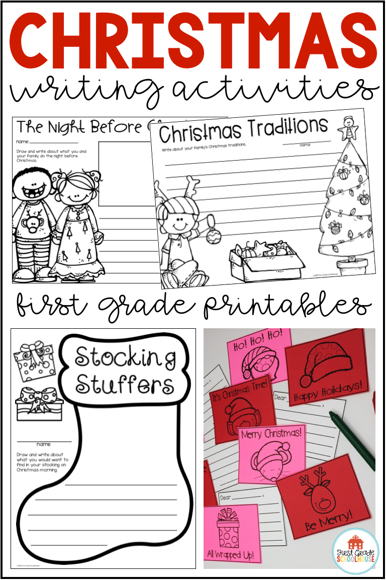 Merry Christmas Writing Ideas.Pin On First Grade Schoolhouse Tpt Store