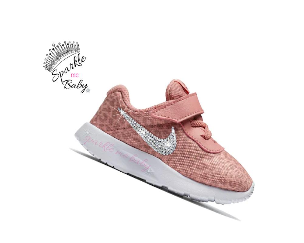 b0b6a2e258b6 Nike Tanjun Toddler - Cheetah - Print - Walker - Bling - Sparkle - AB  Crystal