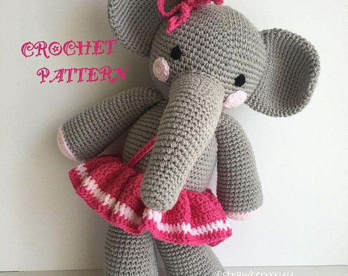 Amigurumi Patterns Elephant : Crochet amigurumi elephant pattern amigurumi