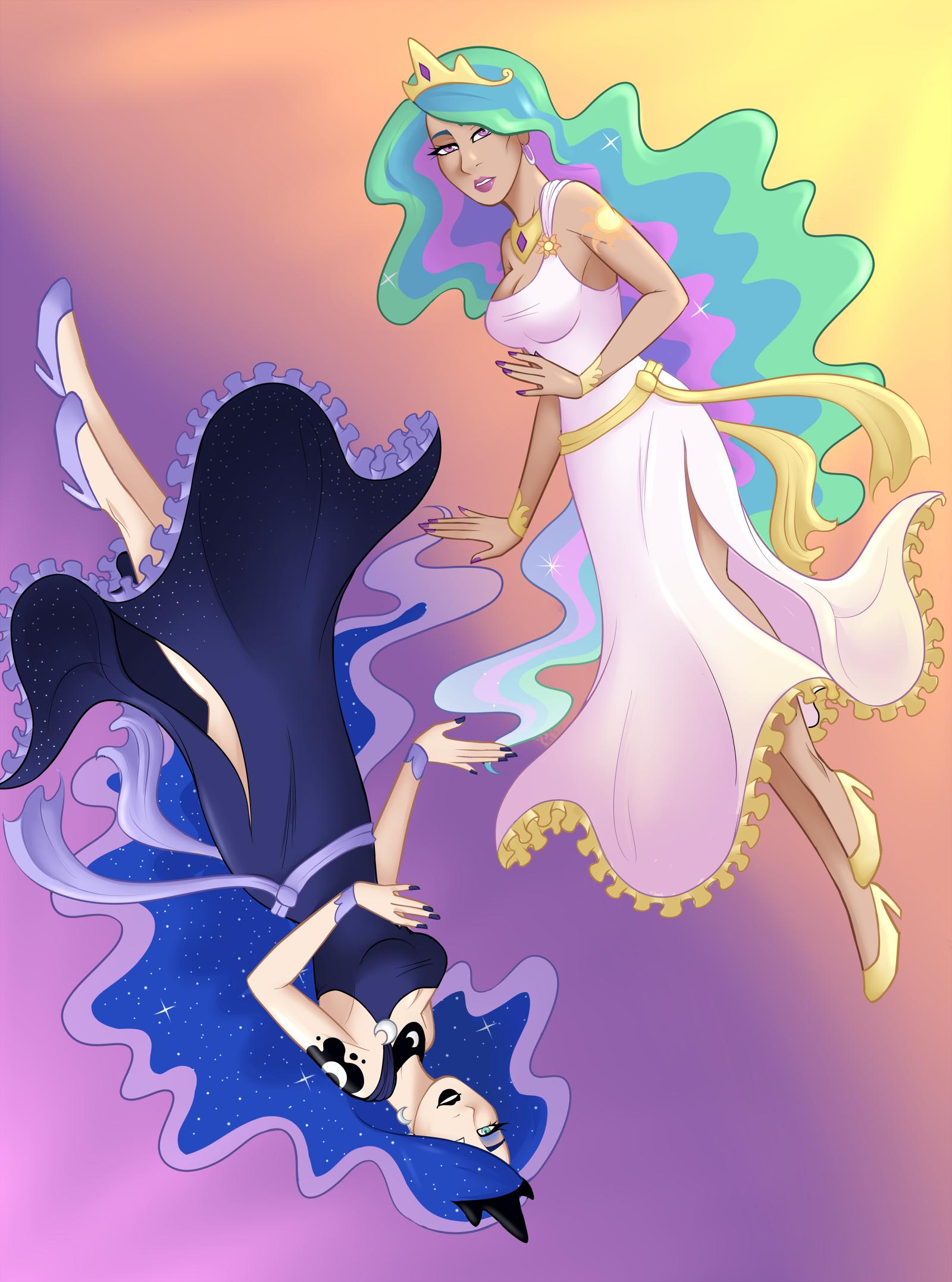 Princess celestia,Princess luna | Little pony, My little ...