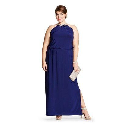 Women's Plus SizeJewel Neck Maxi Dress - chiasso