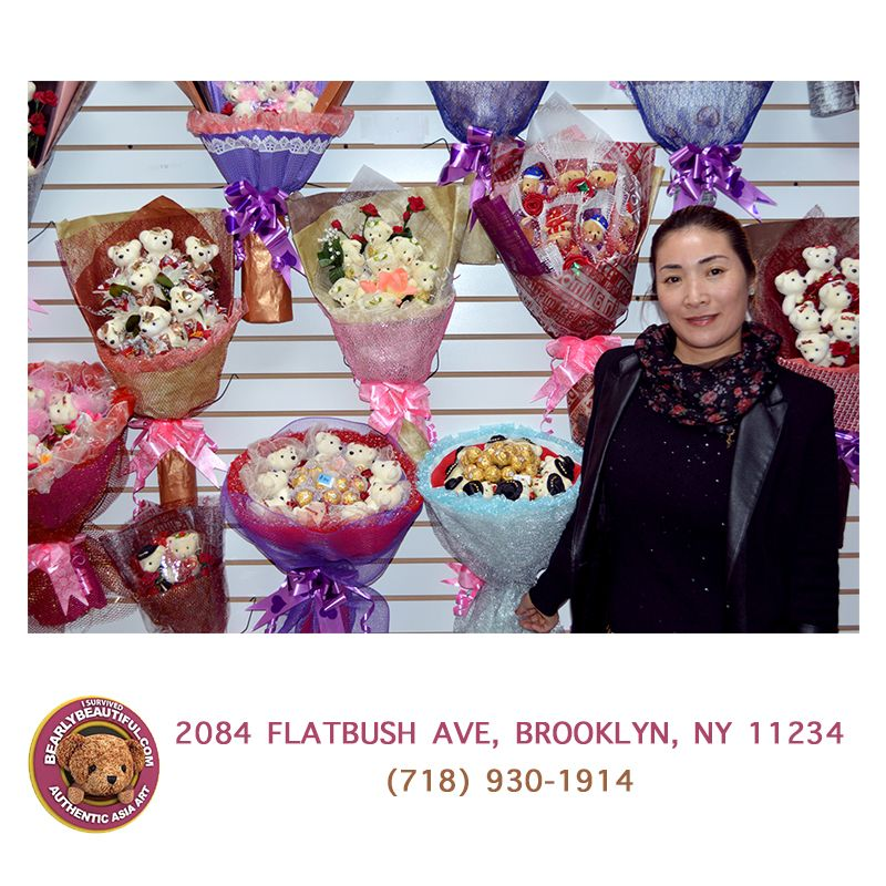 Stop by to check out our beautiful handmade plush flower bouquets. 2084 Flatbush Ave, Brooklyn, NY 11234 (718) 930-1914 #BearlyBeautiful #PicOfTheDay #PlushFlowers