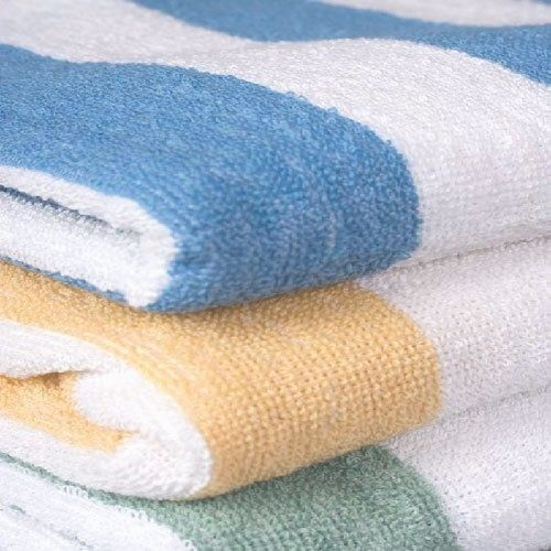 3 Cotton Cabana Stripe Beach Towels 30x70 Made In Usa 1888 Mills
