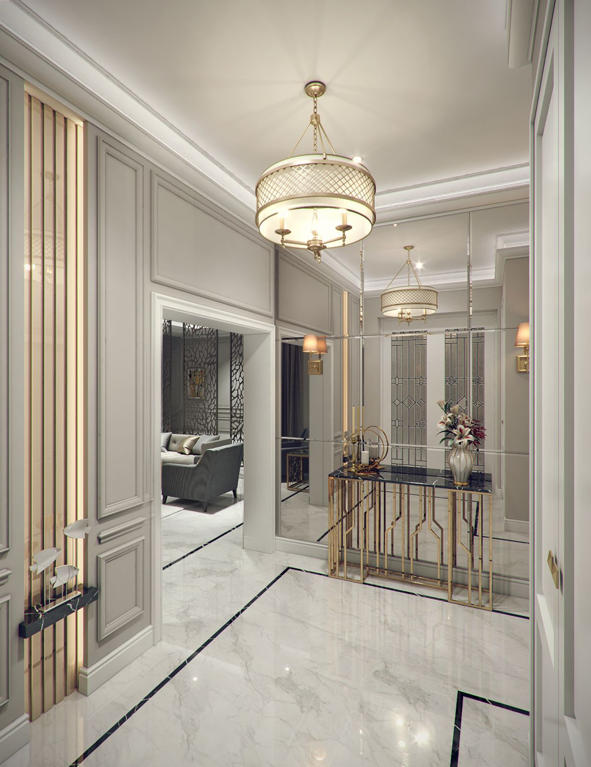Modern Classic Villa Interior Design - Riyadh, Saudi Arabia | White ...