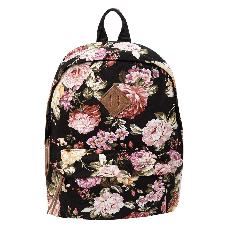 af80bb1934 Black Floral Backpack    TK Maxx  pursestkmaxx  blackfloralpurse ...