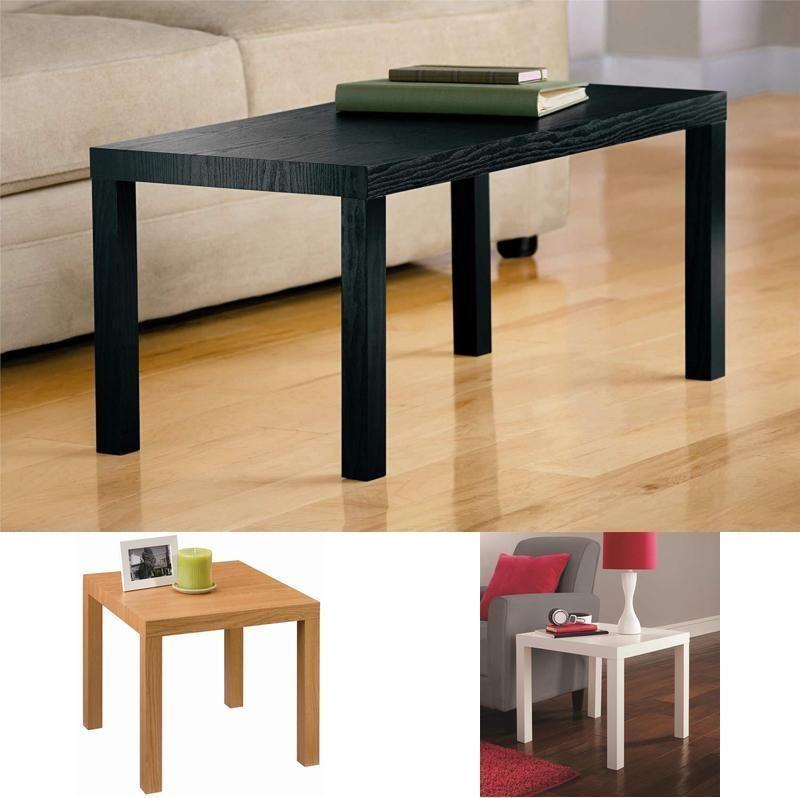 Coffee Table Black Wood Grain White Brown Modern Parsons Wooden End Table Coffee Table Wood Coffee Table Black House