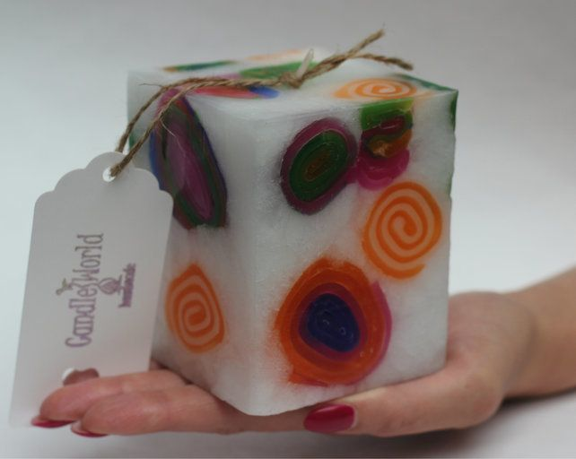 Handmade Square Candle. £9.00