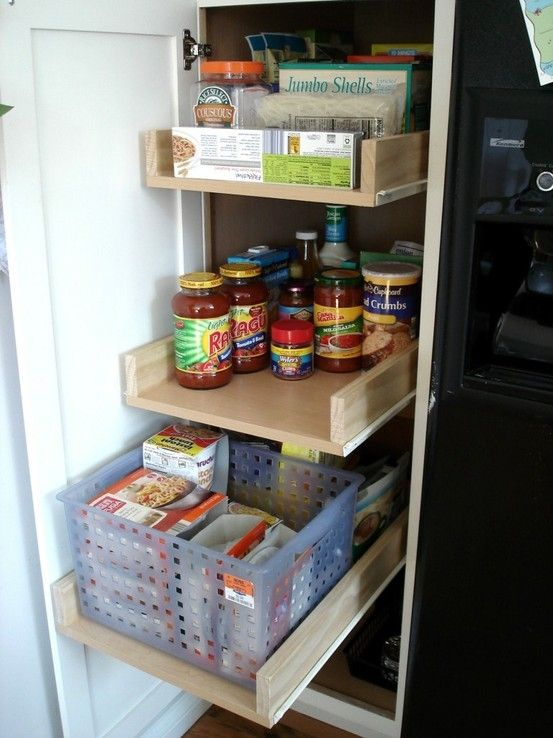Diy Pull Out Shelves We Can Totally Do This Looks Like A Winter Project Diy Pull Out Shelves Pull Out Cabinet Drawers Deep Pantry