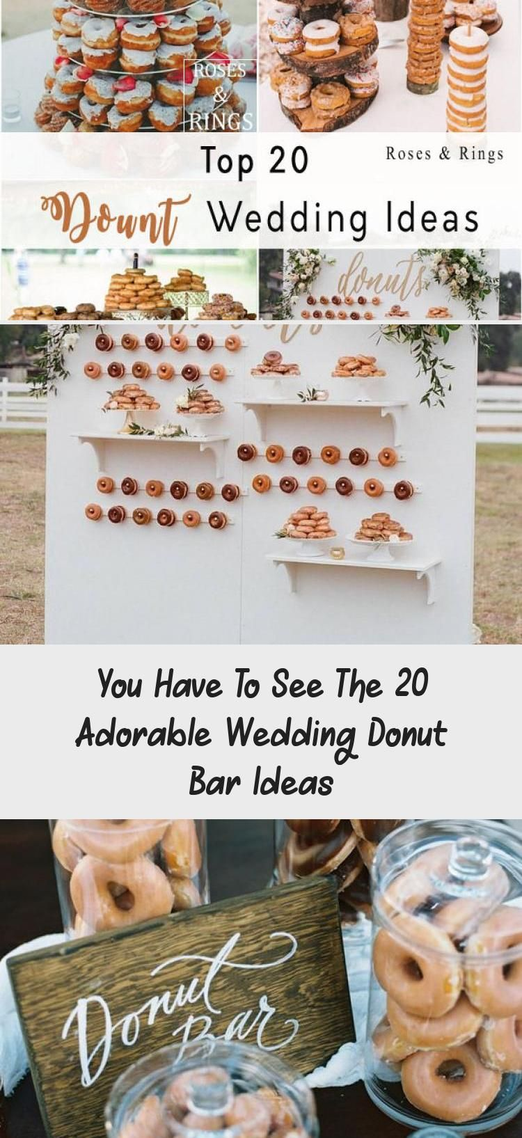 You Have To See The 20 Adorable Wedding Donut Bar Ideas half cake half donuts wedding cake ideas
