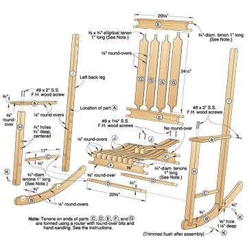 Free Woodworking Plans Rocking Chair Projects And Plans | Board of ...