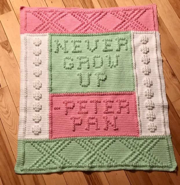 Httpravelrypatternslibrarynever grow up peter pan never grow up peter pan crib afghan dt1010fo