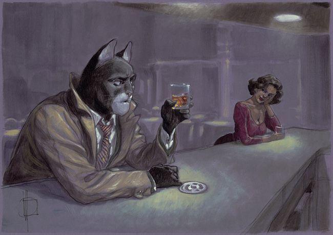 Miguelnxo Prado dibujndo a Blacksad
