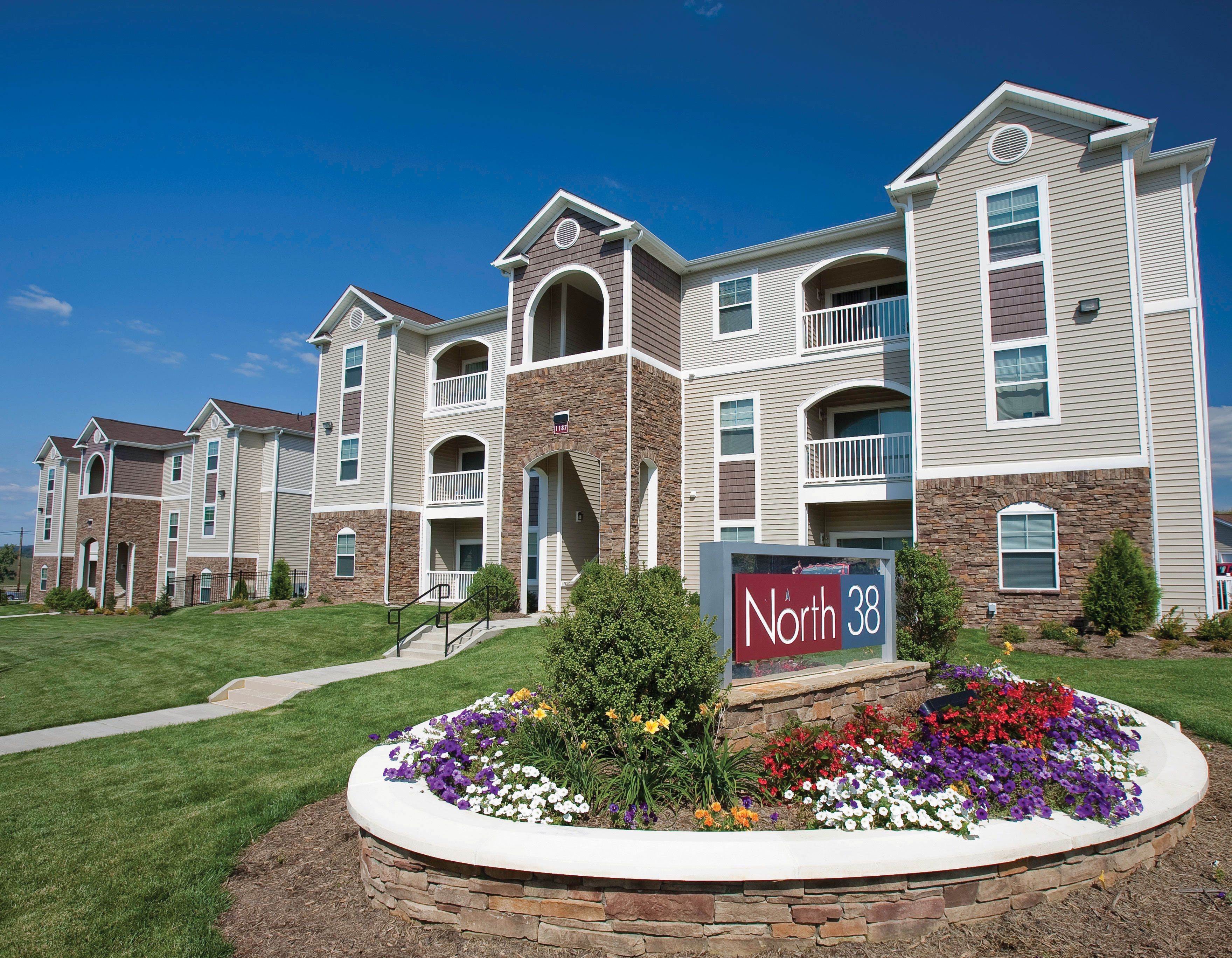 Apartment buildings at North 38 deliver stylish curb appeal. http://www.north38apts.com/