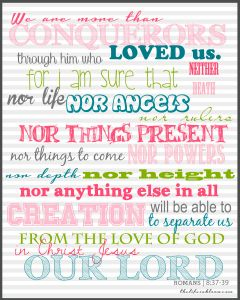 Romans 8 37 39 Freebie Prayer Journal Printable Bible