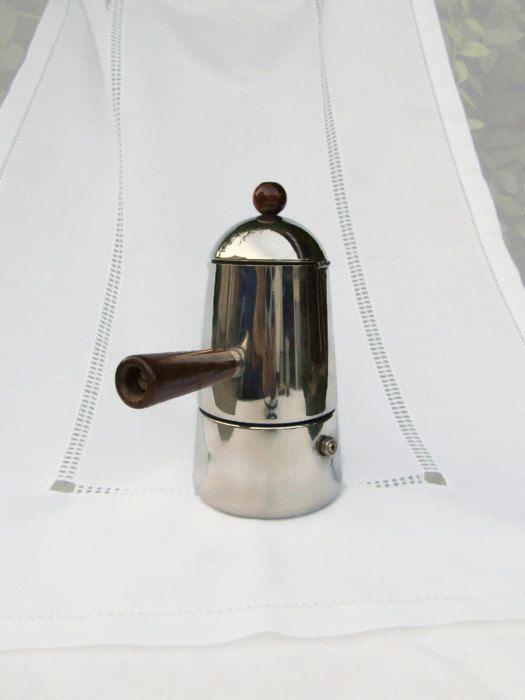 """1970s Vintage Italian Percolator- Lavazza Espresso- Original Percolator """"Carmencita Moka Express"""" Coffee-Maker  MADE in ITALY"""