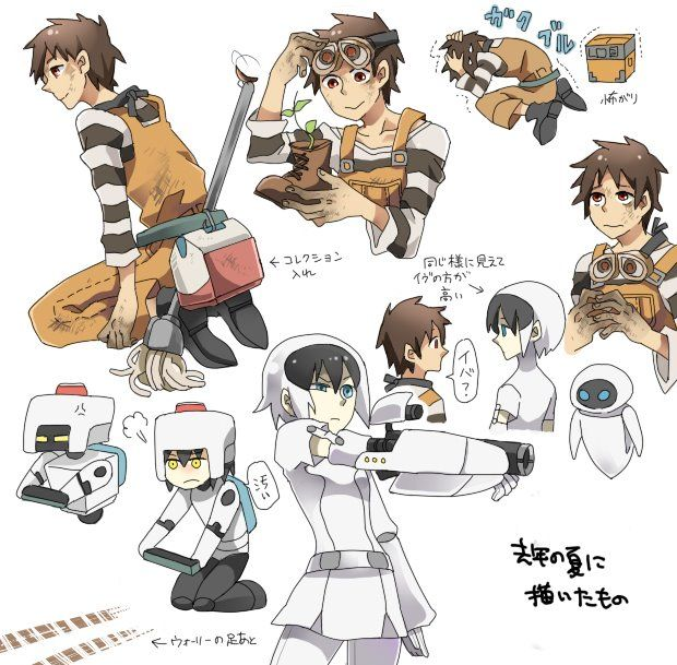 Wall E Cartoon Characters : Anime version of wall e crossovers genderbends
