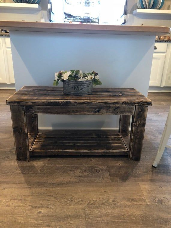 Rustic Smaller Size Custom Built Coffee Table Apartment Size