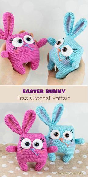 Easter Bunny Free Crochet Pattern #eastercrochetpatterns