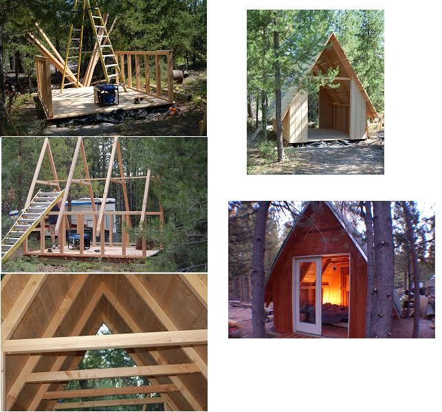 Small Cabin Plan Build Yourself Small Cabin Building Plans: Small A Frame Cabins With Lofts