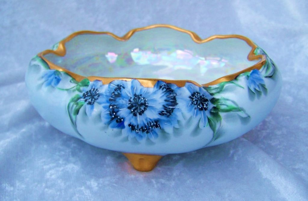 Spectacular vintage bavaria 1900 39 s hand painted vibrant for Vajillas porcelana clasicas