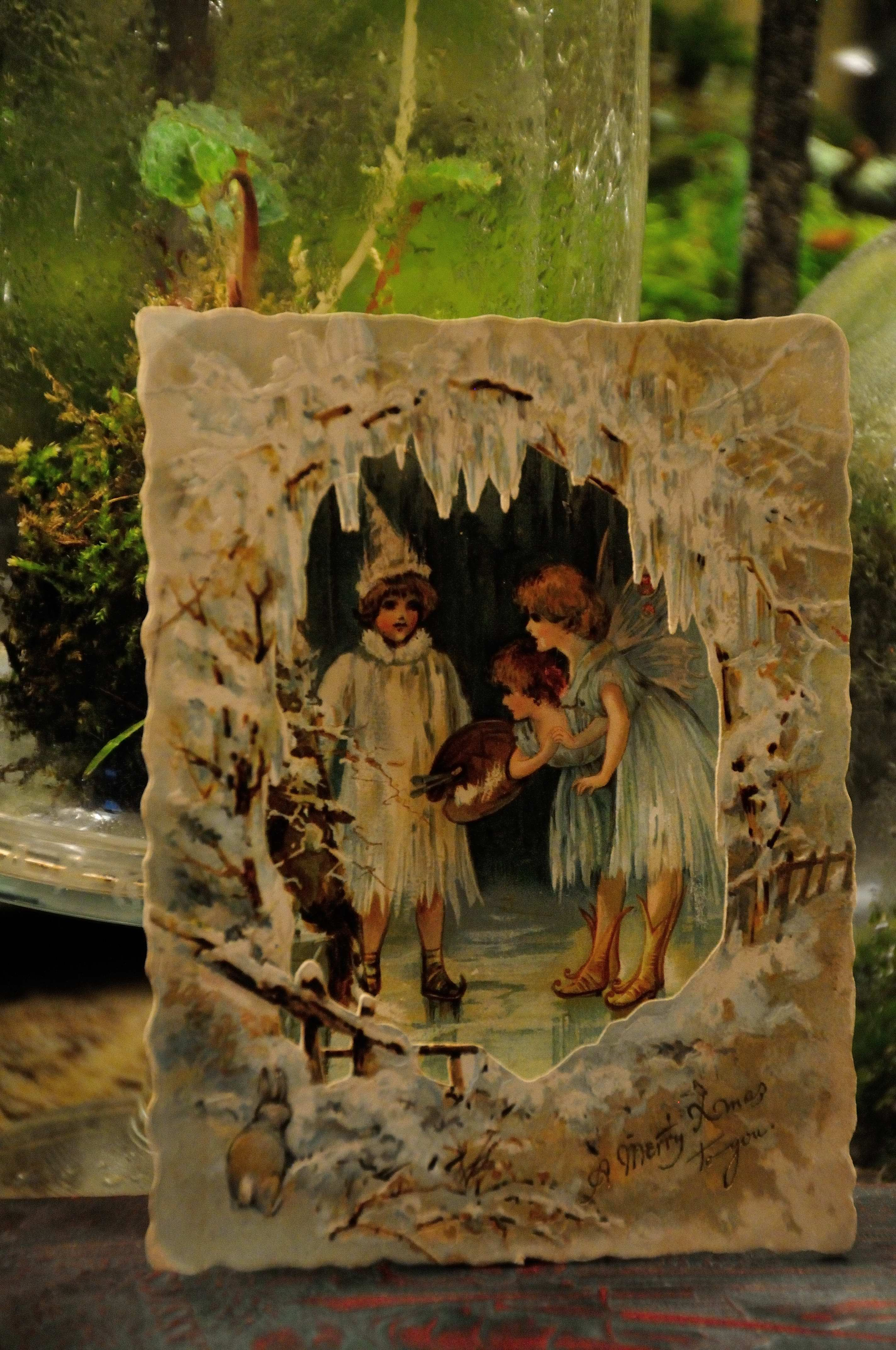 Jack Frost Consulting With The Fairies Antique Pop Up