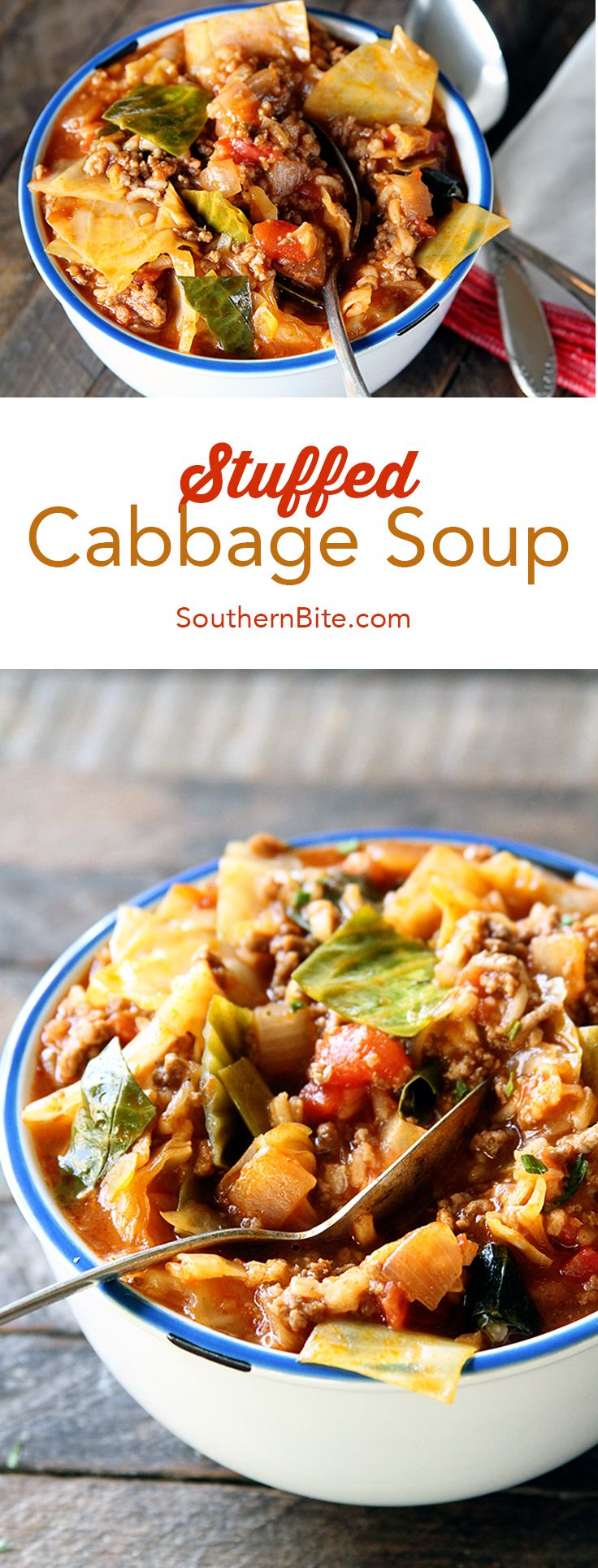 You won't get an easier recipe to create all the delicious flavors of Stuffed Cabbage in a fraction of the time! This Stuffed Cabbage Soup is a real winner!