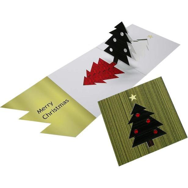 Carte Surprise Sapin De Noel Cartes De Vœux En Papier Carte Noel Fete Vert Saison Cadeau Christmas Tree Cards Christmas Card Crafts Cards