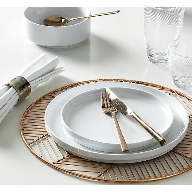 Cb2 Register Copper Placemat 11 95 Kitchen Plate Dining Table Placemats Kitchen Plates Set