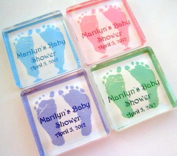 Baby Shower Favor Magnets 1 Inch Glass Magnets Personalized 20