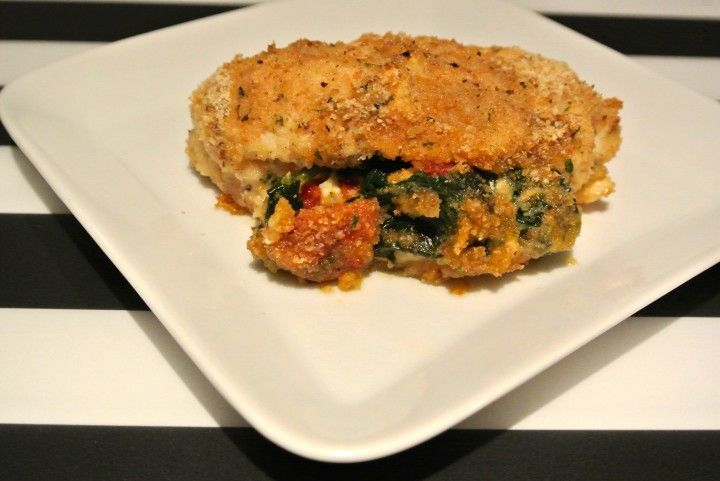 Spinach And Sun-Dried Tomato Stuffed Chicken