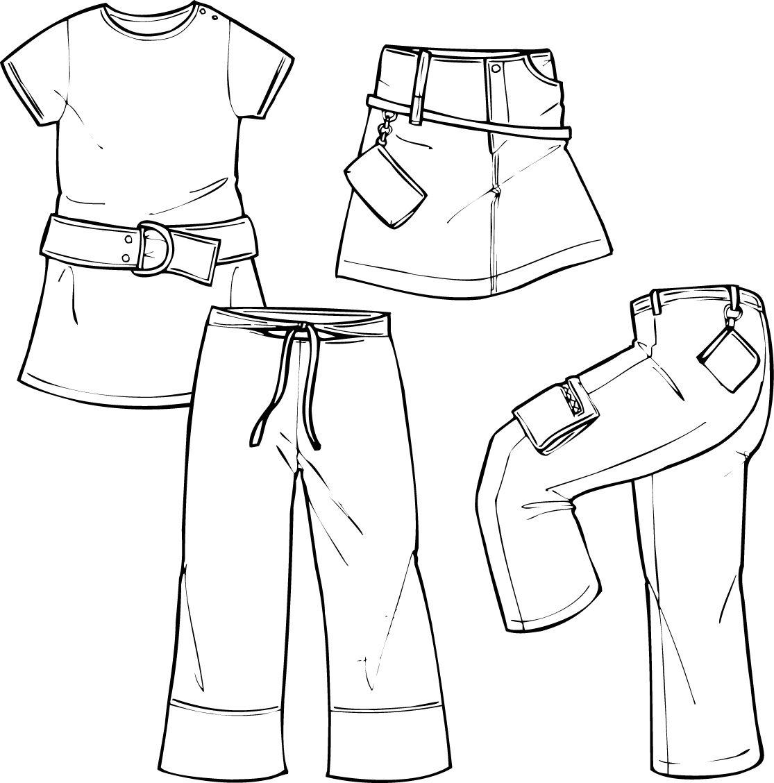 Croquis jupe , pantalon & robe | Fashion croquis templates ...