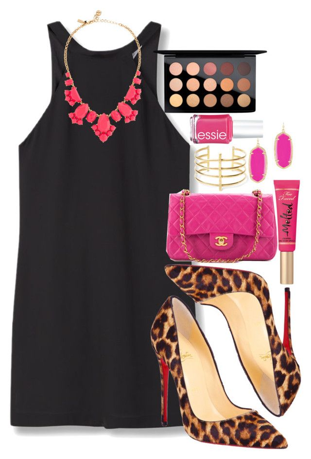 """""""$a$$y"""" by sydneygrignon on Polyvore featuring MANGO, Christian Louboutin, Chanel, Essie, Kendra Scott, BauXo, MAC Cosmetics, Too Faced Cosmetics and Kate Spade"""