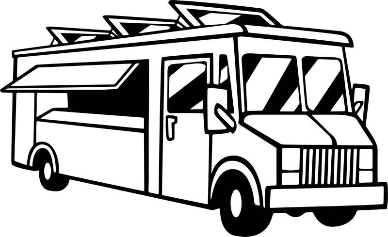 Food Delivery Truck Coloring Page Truck Coloring Pages Sailor Moon Coloring Pages Dolphin Coloring Pages