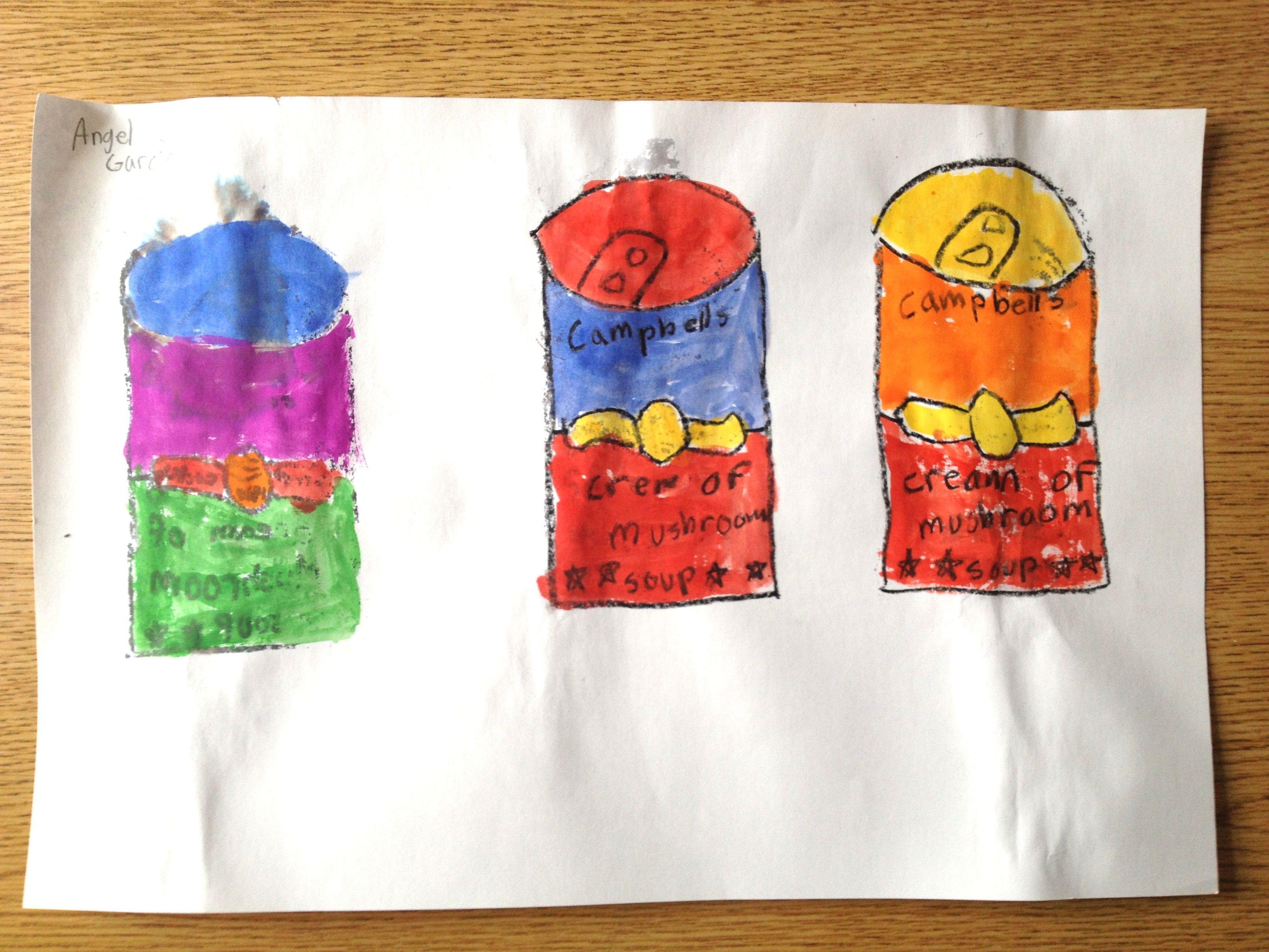 Andy Warhol Pop Art Lesson Art