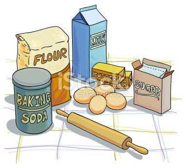 Baking Ingredients Illustration With Colour Baking Drawing Baking Art Food Illustrations