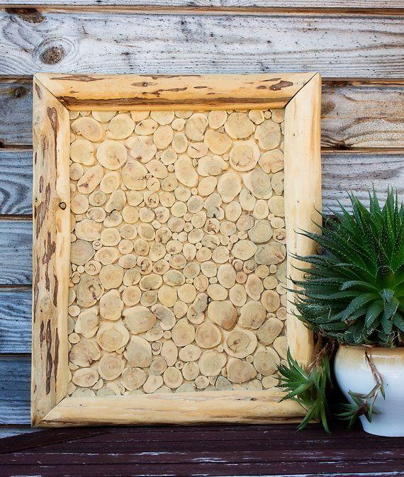 Juniper Wood Wall Hanging, Natural Wooden Wall Art, Handmade Wall ...