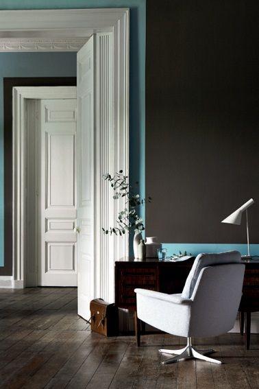 peinture salon 25 couleurs tendance pour repeindre le salon peinture gris anthracite. Black Bedroom Furniture Sets. Home Design Ideas