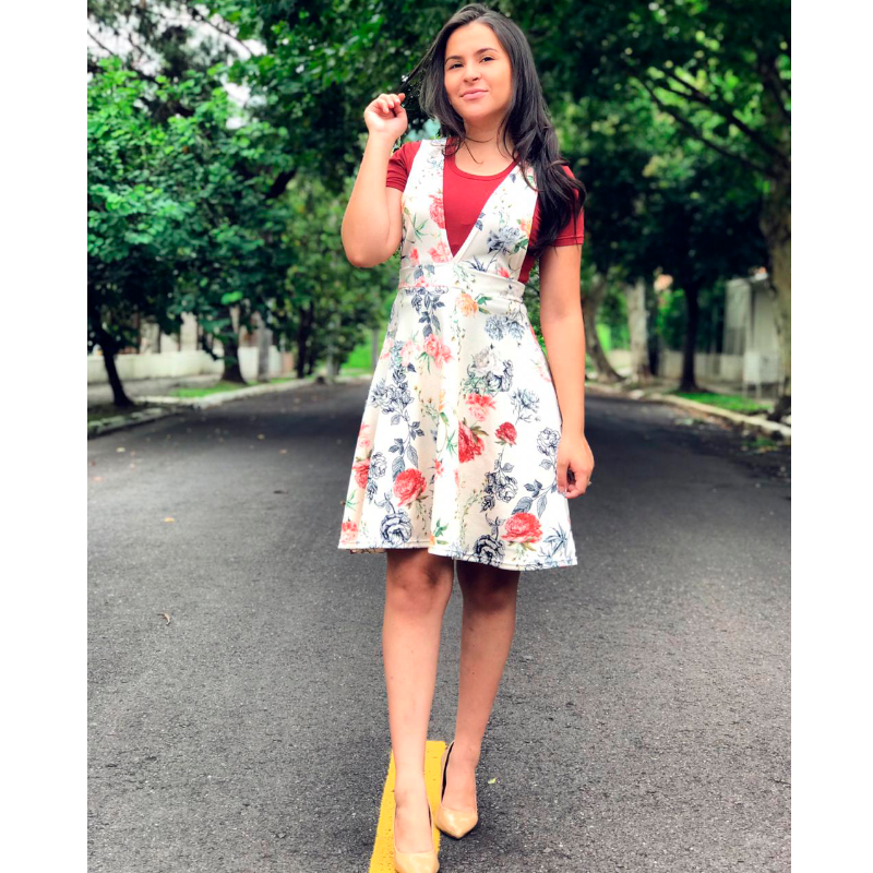 b7b4a3454 ... Realeza Vestidos. Salopete rodada | moda evangélica | jardineira gode |  salopete verão