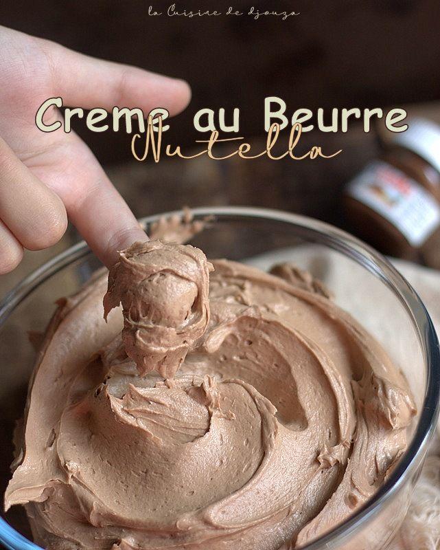 Crème au beurre Nutella ® facile pour design cakes