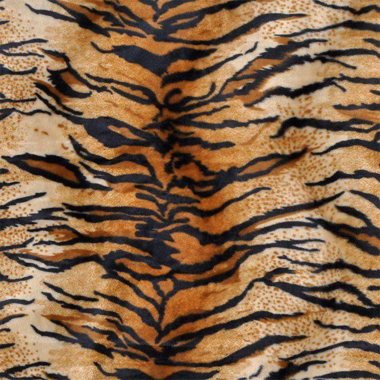 Gold Tiger Velboa Faux Fur Fabric
