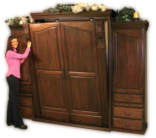 Best This Is A Queen Size Tuscany Style Murphy Bed In African 640 x 480