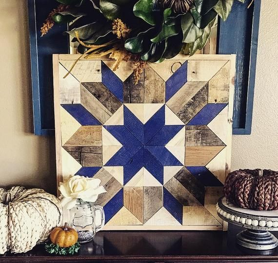 Swoon Pattern Barn Wood Quilt Square Wall Hanging | Best