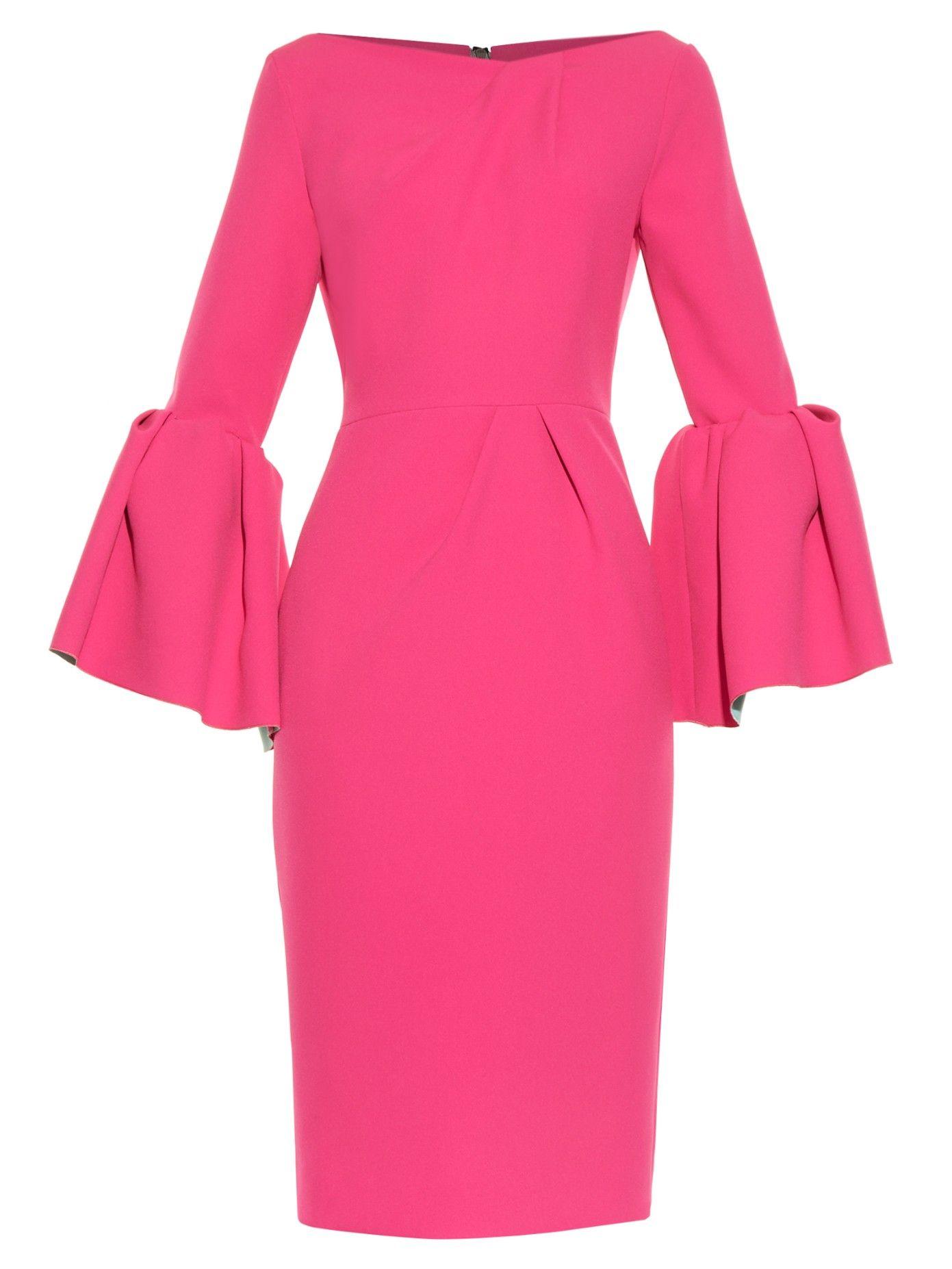 a13de579a0eb Margot bell-sleeve crepe dress