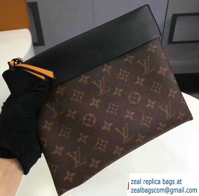 2162d0db300a Louis Vuitton Pochette Tuileries Clutch Pouch Bag M64034 Black 2017 ...