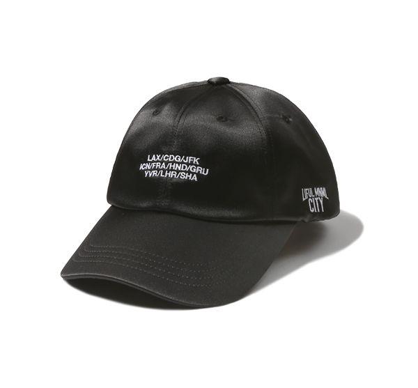 [AIRPORT SATIN CURVED CAP black]