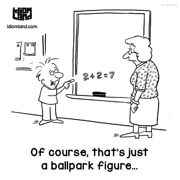 Idiom Of The Day: Ballpark Figure. Meaning: A Rough