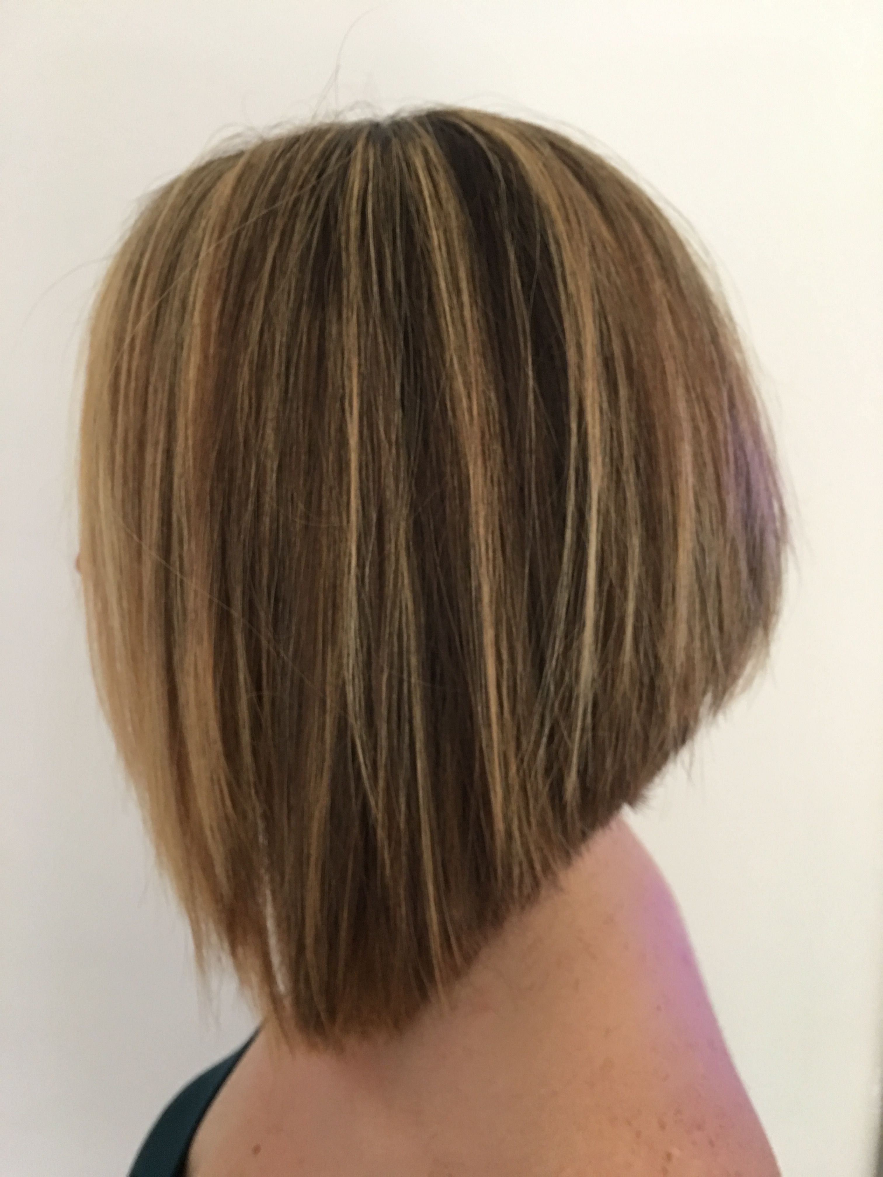 over exaggerated graduated bob | hair styles medium | long