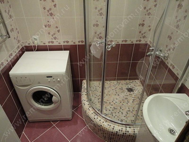интерьер ванной комнаты совмещенной с туалетом в хрущевке с