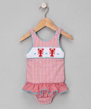 6cc17e090d214 girls lobster bathing suit